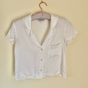 & Other Stores White Button Down Blouse